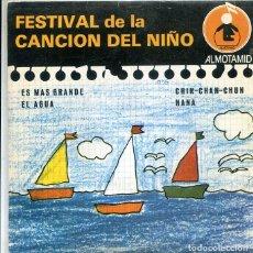 Discos de vinilo: FESTIVAL DE LA CANCION DEL NIÑO Nº 6 / ES MAS GRANDE + 3 (EP ALTOMID 1979). Lote 288965128
