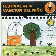 Discos de vinilo: FESTIVAL DE LA CANCION DEL NIÑO Nº 5 / EL ARBOLITO + 3 (EP ALTOMID 1979). Lote 288965263