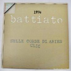 Discos de vinilo: FRANCO BATTIATO. SULLE CORDE DI ARIES. CLIC. 1974. PRODUCTOR: PINO MASSARA. ORIZONTE. CANCIÓN ITALIA. Lote 288969058