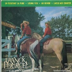 Discos de vinilo: FRANCK POURCEL / EN ECOUTANT LA PLUIE + 3 (EP LA VOZ DE SU AMO 1963). Lote 288970523