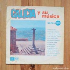 Discos de vinilo: GALICIA Y SU MUSICA 1967 EMI REGAL SERIE AZUL VINILO LP MUSICA CELTA GALEGA. Lote 288970843