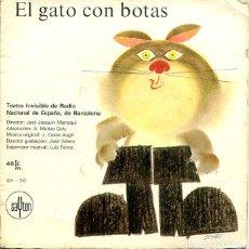 Discos de vinilo: EL GATO CON BOTAS (TEATRO INVISIBLE DE RADIO NACIONAL DE ESPAÑA DE BARCELONA) EP SAYTON 1968). Lote 288973658