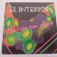 Discos de vinilo: EL INTERIOR/NO ERES UN DIOS/SINGLE PROMOCIONAL.. Lote 288973828