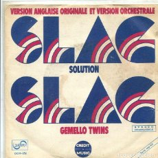 Discos de vinilo: GEMELOS TWINS / SLAG SOLUTION / INSTRUMENTAL (SINGLE ZAFIRO 1973). Lote 288973993