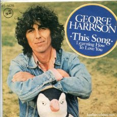 Discos de vinilo: GEORGE HARRISON / THIS SONG / LEARNING HOW TO LOVE YOU (SINGLE DARK HORSE 1976). Lote 288975348