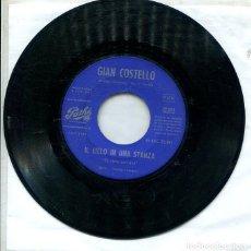 Discos de vinilo: GIAN COSTELLO / IL CIELO IN UNA STANZA / LIEBELEI (SINGLE PATHE 1961). Lote 288976228