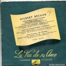Discos de vinilo: GILBERT BECAUD / MADAME POMPADOUR+ 3 (EP LA VOZ DE SU AMO + 3 1958). Lote 288977668