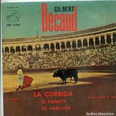 Discos de vinilo: GILBERT BECAUD / LA CORRIDA +3 (EP LA VOZ DE SU AMO + 3 1963). Lote 288979093