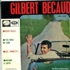 Discos de vinilo: GILBERT BECAUD / PLEIN SOLEIL +3 (EP LA VOZ DE SU AMO + 3 1964). Lote 288979523