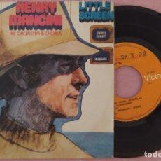 "Discos de vinilo: 7"" HENRY MANCINI - BIG SCREEN / LITTLE SCREEN - RCA TP-631 - PORTUGAL - EP ""INK STAMP"" (EX/EX). Lote 288980358"