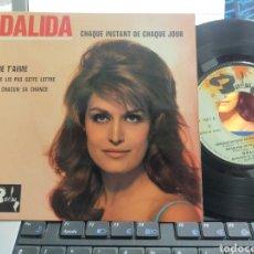 Discos de vinilo: DALIDA EP CHAQUÉ INSTANT DE CHAQUÉ JOUR + 3 FRANCIA EN PERFECTO ESTADO. Lote 288985403