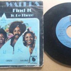 Discos de vinilo: WATERS / FIND IT / SINGLE 7 INCH. Lote 288996528