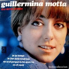 Discos de vinilo: GUILLERMINA MOTTA - CANTA LES SEVES CANÇONS - EP SPAIN 1966 + DOCUMENTO. Lote 289004028