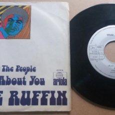 Discos de vinilo: BRUCE RUFFIN / MAD ABOUT YOU / SINGLE 7 INCH. Lote 289005923