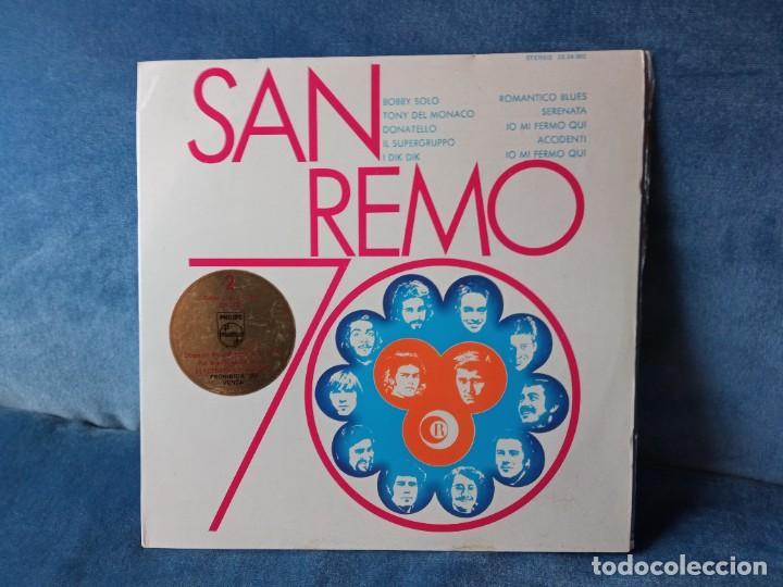 DISCO VINILO SAN REMO 70 (EDIC. ESPAÑOLA) (Música - Discos - LP Vinilo - Otros Festivales de la Canción)