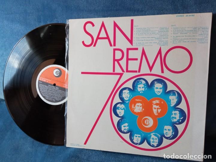 Discos de vinilo: Disco Vinilo SAN REMO 70 (edic. Española) - Foto 2 - 289006313