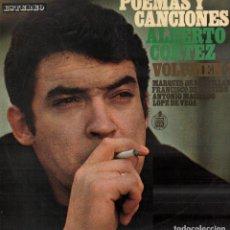 Discos de vinilo: ALBERTO CORTES - POEMAS Y CANCIONES / LP HISPAVOX DE 1963 / BUEN ESTADO RF-10379. Lote 289011108