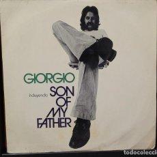 Discos de vinilo: GIORGIO - SON OF MY FATHER LP - ESPAÑA 1972. Lote 289011478