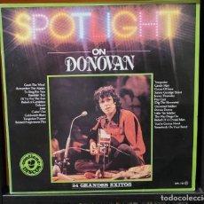 Discos de vinilo: SPOTLIGHT ON DONOVAN 2 LP´S - 24 GRANDES EXITOS. Lote 289013648