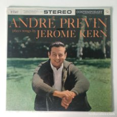 Discos de vinilo: ANDRÉ PREVIN – ANDRÉ PREVIN PLAYS SONGS BY JEROME KERN, US 1959 CONTEMPORARY RECORDS. Lote 289015603