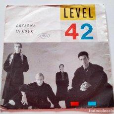 Discos de vinilo: VINILO SINGLE DE LEVEL 42. LESSONS IN LOVE. 1986.. Lote 289018368