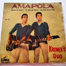 Discos de vinilo: VINILO SINGLE DE KRONER'S DUO. AMAPOLA. 1961.. Lote 289019273
