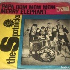 Discos de vinilo: SINGLE THE SPOTNICKS - PAPA OOM MOW MOW - MERRY ELEPHANT - SWEDISC SWES1041 -PEDIDO MINIMO 7€. Lote 289026333