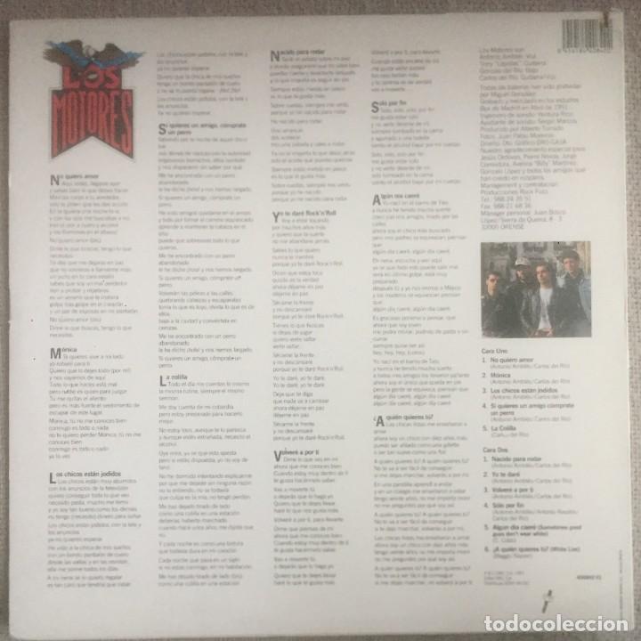 Discos de vinilo: Los Motores - Si quieres un amigo cómprate un perro - LP DRO 1991. Edición española. - Foto 2 - 289028383