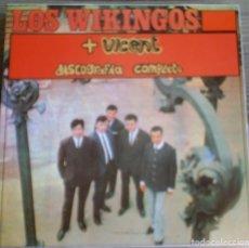 Discos de vinilo: LOS WIKINGOS + VICENT - DISCOGRAFIA COMPLETA - LP EL COCODRILO RECORDS 1989. EDICIÓN ESPAÑOLA.. Lote 289028773