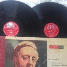 Discos de vinilo: ALBUM DOBLE DE MANUEL DE FALLA POR A RUBINSTEIN. Lote 289059383