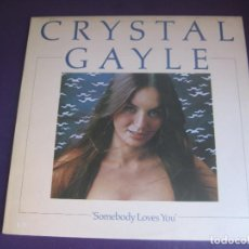 Discos de vinilo: CRYSTAL GAYLE – SOMEBODY LOVES YOU - LP UNITED ARTISTS 1975 - COUNTRY ROCK AMERICANA 70'S -. Lote 289195463