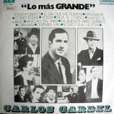 Discos de vinilo: LP CARLOS GARDEL LO MAS GRANDE. Lote 289110638