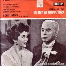 Discos de vinilo: CHARLES CHAPLIN UN REY EN NUEVA YORK BORIS SARBEK PVL. Lote 289145693