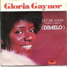 Discos de vinilo: GLORIA GAYNOR / DIMELO / ONE NUMBER ONE (SINGLE POLYDOR 1979). Lote 289198043
