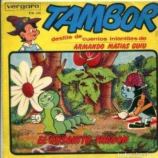 Discos de vinilo: EL GUSANO TRAGON (COLECCON TAMBOR) EP VERGARA 1964. Lote 289199358