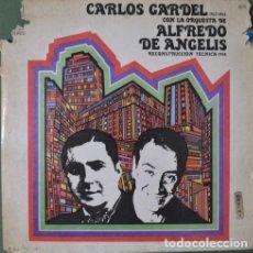 Discos de vinilo: CARLOS GARDEL CON LA ORQUESTA DE ALFREDO DE ANGELIS VINILO. Lote 289173148