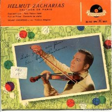 Discos de vinilo: HELMUT ZACHARIAS / QUE SERA SERA + 3 (EP POLYDOR 1958). Lote 289200488