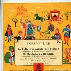 Discos de vinilo: INFANTILES (CUENTOS) LA BELLA DURMIENTE DEL BOSQUE + 1 (EP ODEON 1958). Lote 289202648