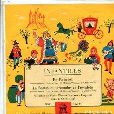 Discos de vinilo: INFANTILES (CUENTOS) EL PATUFEL + 1 (EP ODEON 1958). Lote 289202973