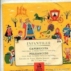 Discos de vinilo: INFANTILES (CUENTOS) CAPERUCITA + 1 (EP ODEON 1958). Lote 289203028