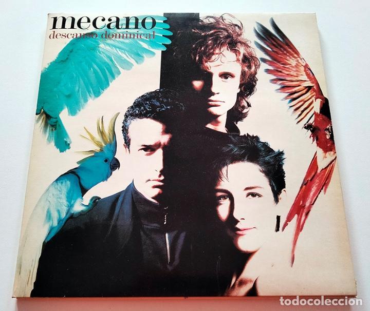 VINILO LP DE MECANO. DESCANSO DOMINICAL. 1988. (Música - Discos - LP Vinilo - Grupos Españoles de los 90 a la actualidad)