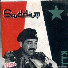 Discos de vinilo: K.L.J. / SADDAM - 2 VERSIONES (SINGLE MAX PROMO 1990). Lote 289204558