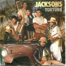 Discos de vinilo: JACKSONS / TORTURE / INSTRUMENTAÑ ( SINGLE EPIC 1984). Lote 289205303