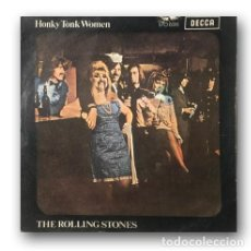Discos de vinilo: ROLLING STONES - HONKY TONK WOMEN / YOU CAN'T ALWAYS GET WHAT YOU WANT. Lote 289210193