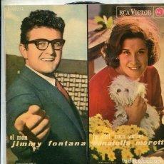 Discos de vinilo: JIMMY FONTANA - DONATELLA MORETTI / RITA PAVONE / GIANNI MORANDI (EP RCA 1965). Lote 289210248