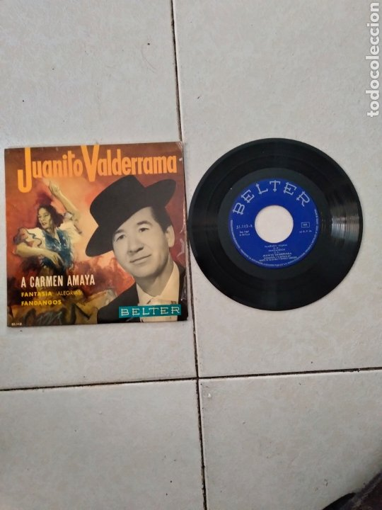JUANITO VALDERRAMA A CARMEN AMAYA - SINGLE - SPAIN - PR - (Música - Discos de Vinilo - EPs - Cantautores Españoles)