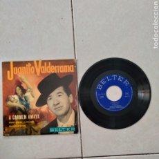 Discos de vinilo: JUANITO VALDERRAMA A CARMEN AMAYA - SINGLE - SPAIN - PR -. Lote 289214743