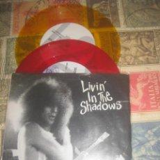 Discos de vinilo: JEFF DAHL LIVIN IN THE SHADOWS DOBLE COLOR (1992-BARN HOMES ) ORIGINAL JAPON. Lote 289214968