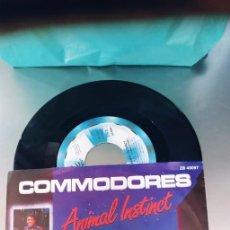 Discos de vinilo: COMMODORES-SINGLE ANIMAL INSTINCT. Lote 289215483