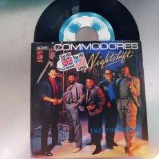 Discos de vinilo: COMMODORES-SINGLE NIGHTSHIFT. Lote 289215708